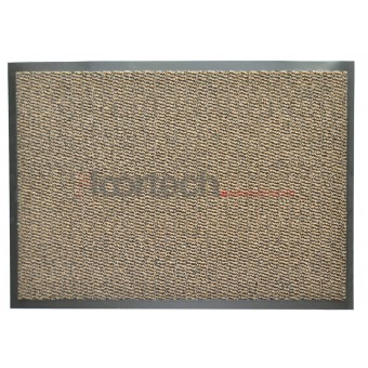 Грязезащитный влаговпитывающий ковер стандартных размеров Лейла коричневый