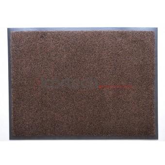 Грязезащитный влаговпитывающий ковер на резиновой основе Профи Люкс коричневый