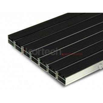 Грязезащитная алюминиевая решетка с резиновыми вставками