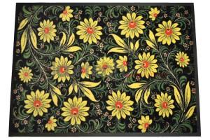 Ковер Профи люкс цветы на резиновой основе